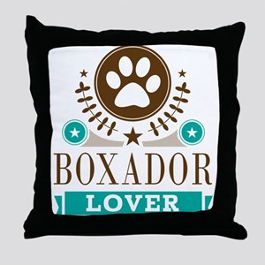 Boxador Dog Lover Throw Pillow